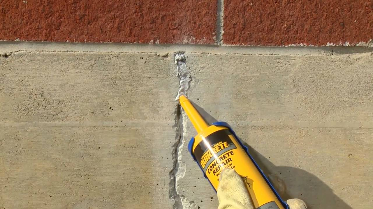 Foundation Wall Crack Sealing